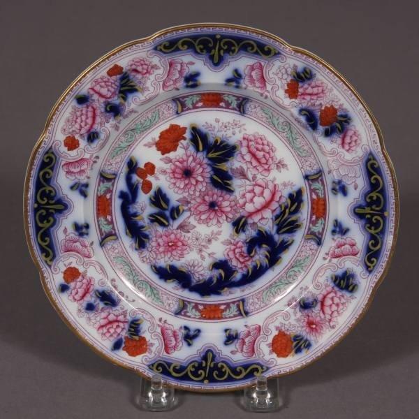 Cauldon Ironstone Plate, English, Late 19th Century