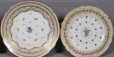Nyon Porcelain Plate & Another Plate, Swiss, E. 19th C.