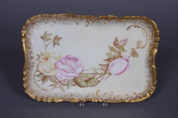 Haveland Limoges Porcelain Floral Decorated Dish