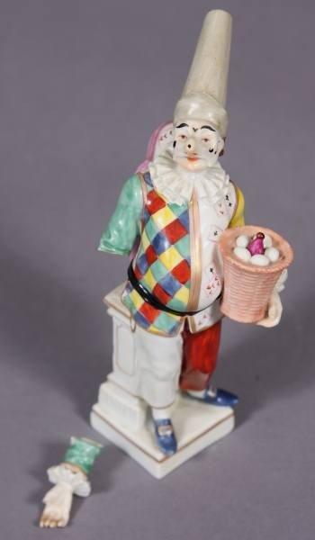 Porcelain Commedia dell'Arte Figure, Early 20th Century
