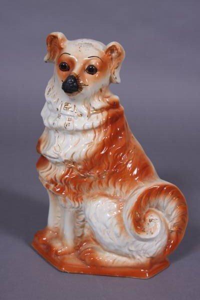 Staffordshire Pottery Collie, English, 20th Century