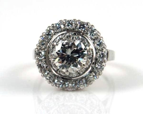 Ladies Ring, Platinum Set W/ 30 Brilliant Cut Diamonds