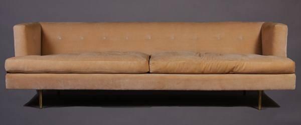 Mid-Century Upholstered Sofa, American, 20th Century