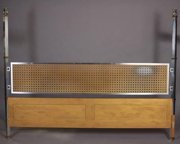 Mid-Century Patinated Metal Queen Headboard