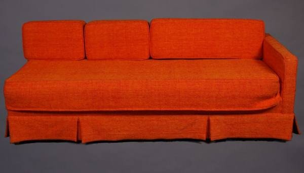 Pair Mid-Century Upholstered Sofas, American, 20th C.