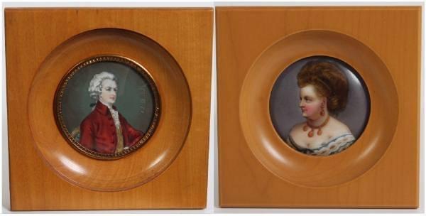 Two Porcelain Miniatures, 20th Century