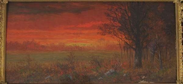 Thompson, Sunset, Oil on Board, 1903