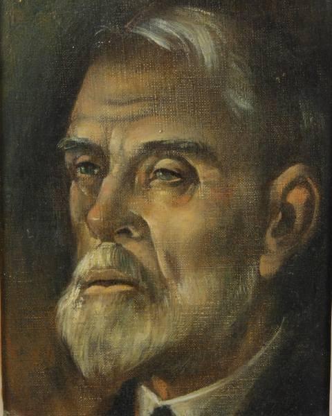 Carlos Lopez (1908-1953), Bearded Man, Oil