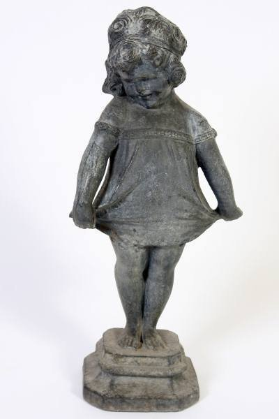 Cast Lead Figure of A Girl, 20th Century