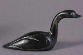Inuit Carved Stone Goose, Canadian, 20th Century
