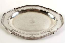 Dominick  Haff Sterling Silver Oval Tray 35 Ozt