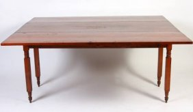 Late Federal Pine Drop Leaf Table, 20th Century