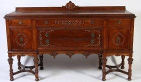 Jacobean Style Walnut Side Board, Early 20th C.