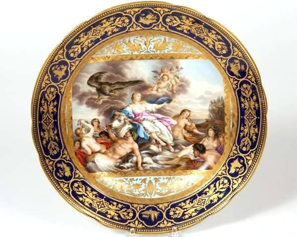 Vienna Porcelain Cabinet Plate, Austrian