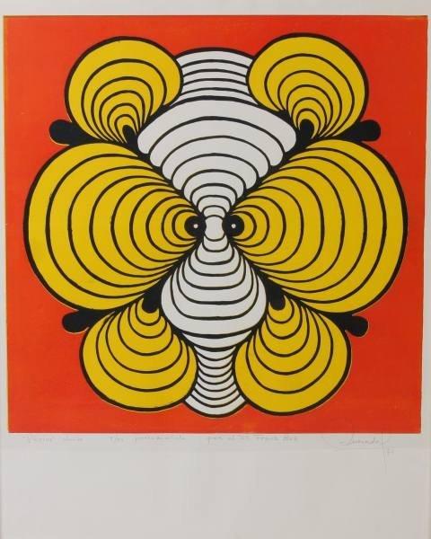 """Quesado (20th C.), """"Ptirius"""", Silkscreen, 1971"""