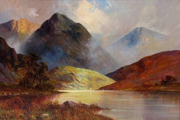F. Jamieson (American, 20th C.), Mountains, Oil