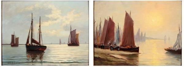 John A. Evans (Dutch, 1892-1933), Pair Oils