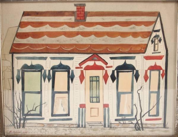 "Charles Culver (1908-1967), ""House in Mancelona"""