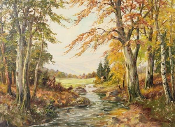 """H. Dahlberg (Continental, E. 20th C.), """"Autumn"""""""