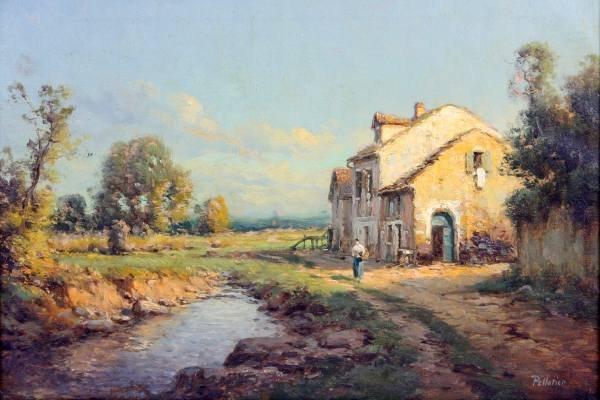 Antoine Bouvard (French, 1870-1956), Cottage on Lake