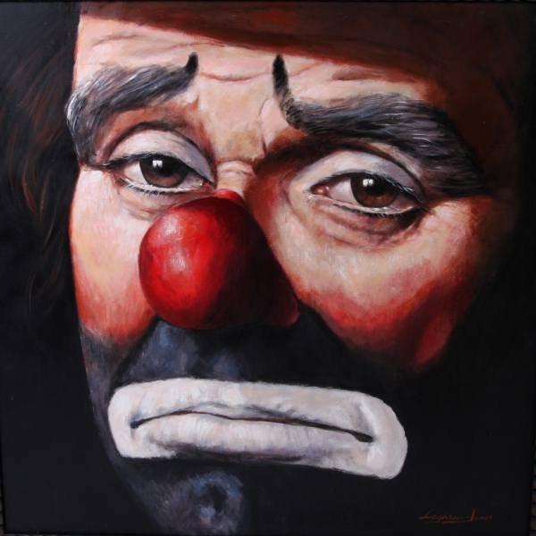 Barry Leighton-Jones (English, B. 1932), Clown