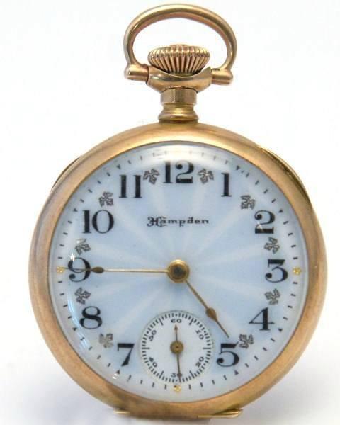 Ladies Hampden Pocket Watch, 14K Gold