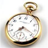 Patek Philippe  Co 18K Open Face Pocket Watch