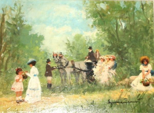 Demarest (Continental, 20th Century), Forest Scene