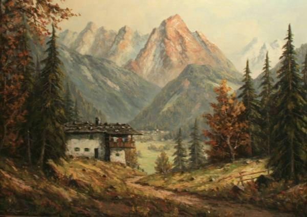 E. Rudolph (American, 20th Century), Mountains