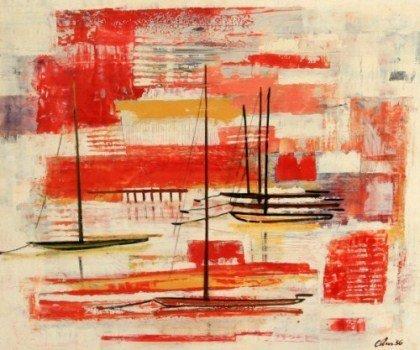 Harold Cohn (1908-1982), Abstracted Sail Boats