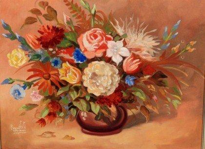 Reynold Weidener (20th C.), Floral Still Life