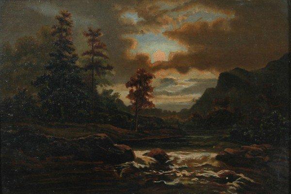 Unknown Artist (19th C.), Moonlight Landscape