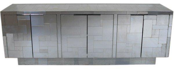 Paul Evans Chrome Plated Cityscape Cabinet