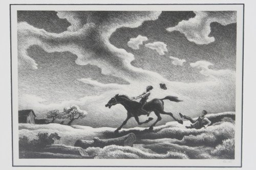 "Thomas Hart Benton (1889-1975), ""Spring Try Out"""