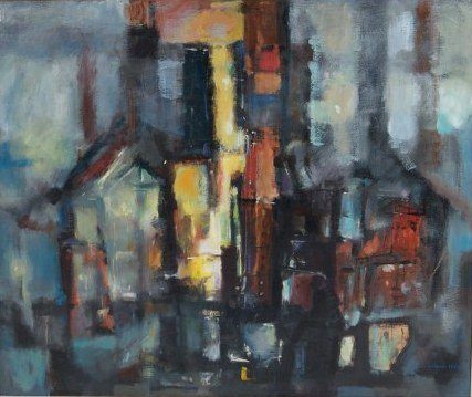 William A. Lewis (b. 1918), Abstract Composition