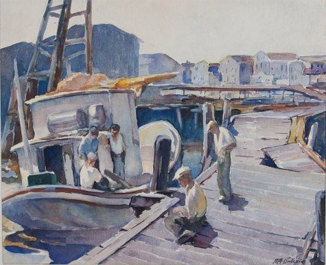 Possibly Mastro-Valerio (1887-1953), On The Dock