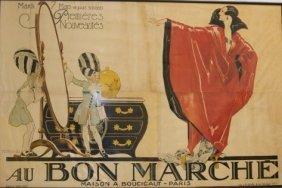 Rene Vincent (1879-1936), Au Bon Marche Billboard