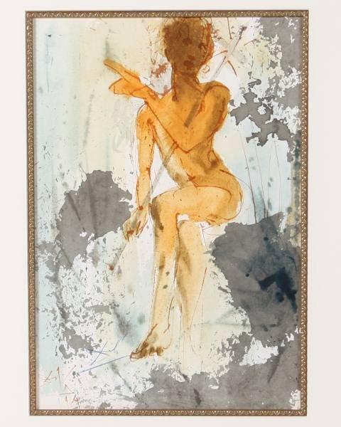 "Salvador Dali, ""Ipse erat Elias"", Lithograph"