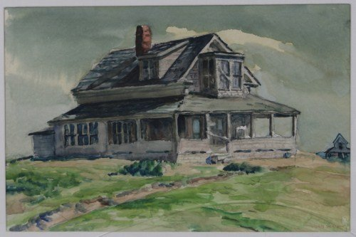 """Wilfred Berg (1908-2002), """"Haunted Hilltop House"""""""