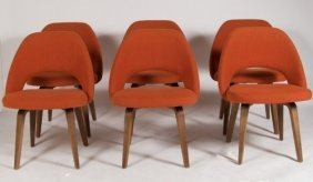 Eero Saarinen Walnut Dining Chairs, Made By Knoll