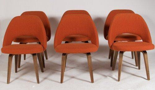 Eero Saarinen Walnut Dining Chairs, Made By Knoll