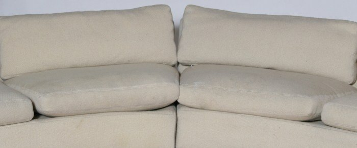 Milo Baughman Section Upholstered Sofa, 20th C. - 2