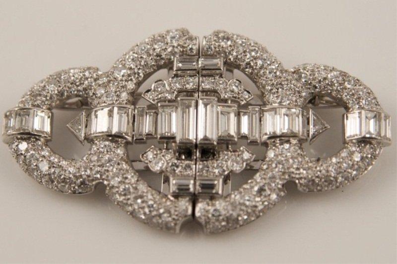 Diamond Art Deco Pin, 1920-1930