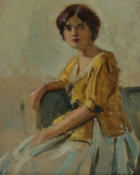 J. W. Gies (1860-1935), Portrait of Seated Woman