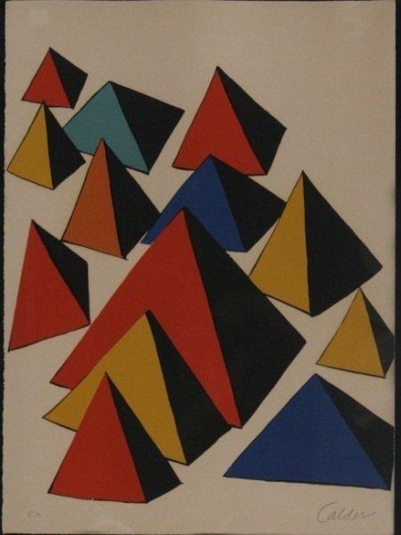 After Alexander Calder (1898-1976), Pyramids