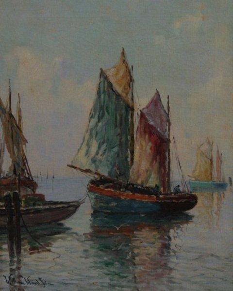 William Ward Jr. (1829-1908), Sailboat at Sea