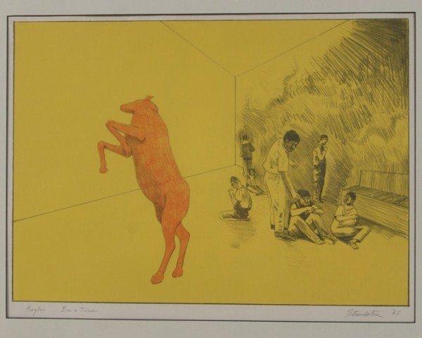 """James Strombotne (B. 1934), """"Asylum Bon a Tirer"""""""