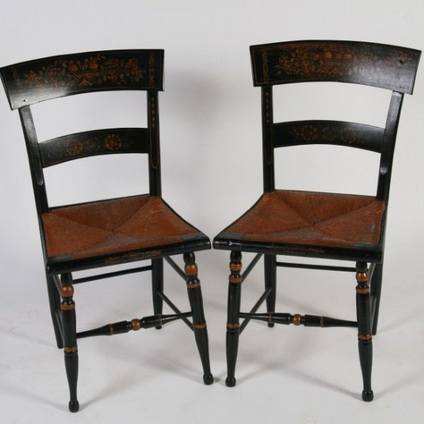 Pair Sheridan Fancy Chairs, 19th C. American