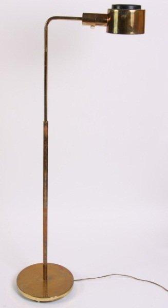 Casella Brass Pharmacy Floor Lamp, 20th C.