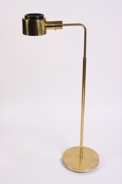 Casella Brass Pharmacy Floor Lamp, 20th C.